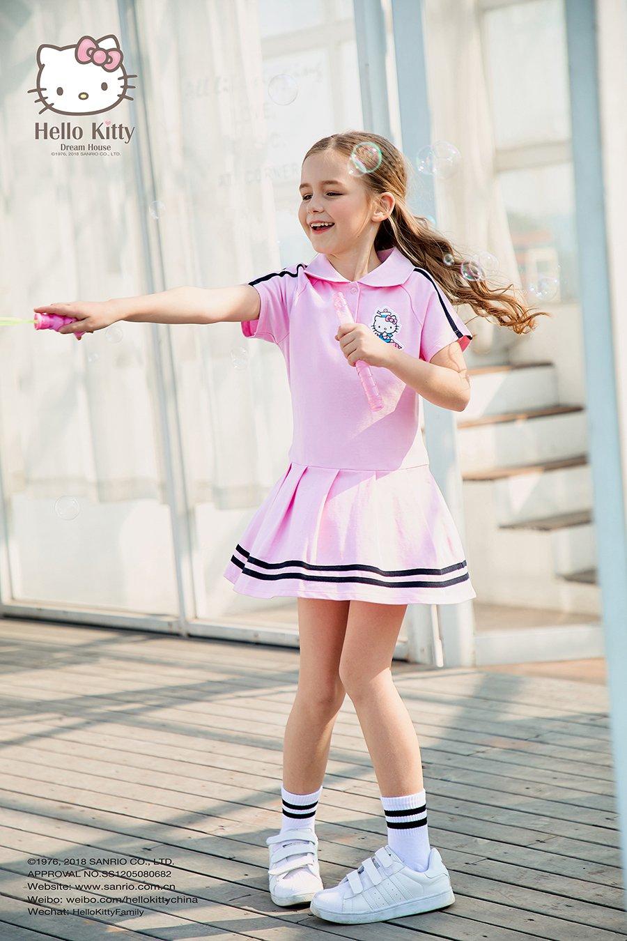 2018SS女童翻领短袖连衣裙K282702