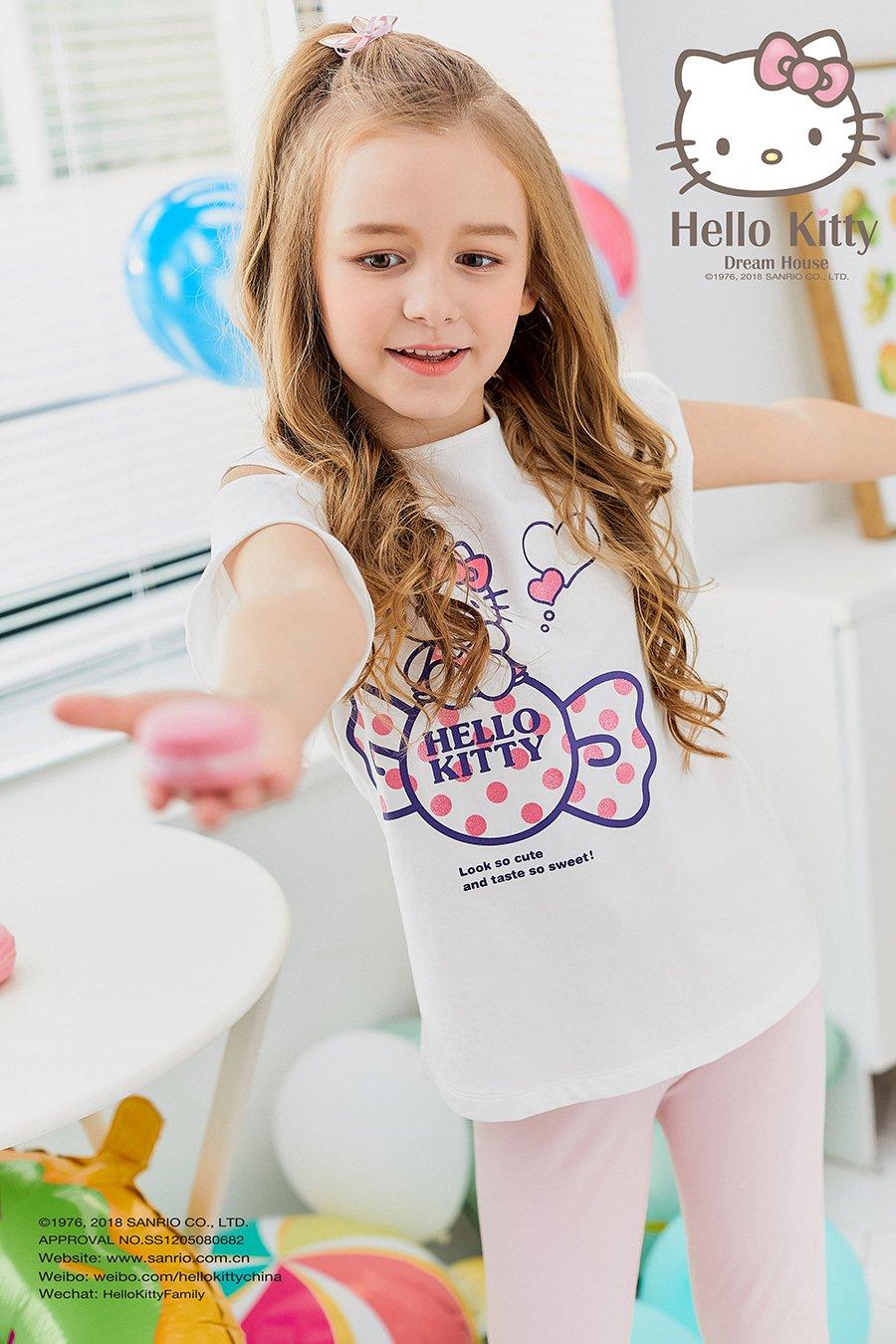2018SS女童圆领露肩袖T恤K283123