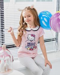 2018SS女童翻领短袖T恤K283124